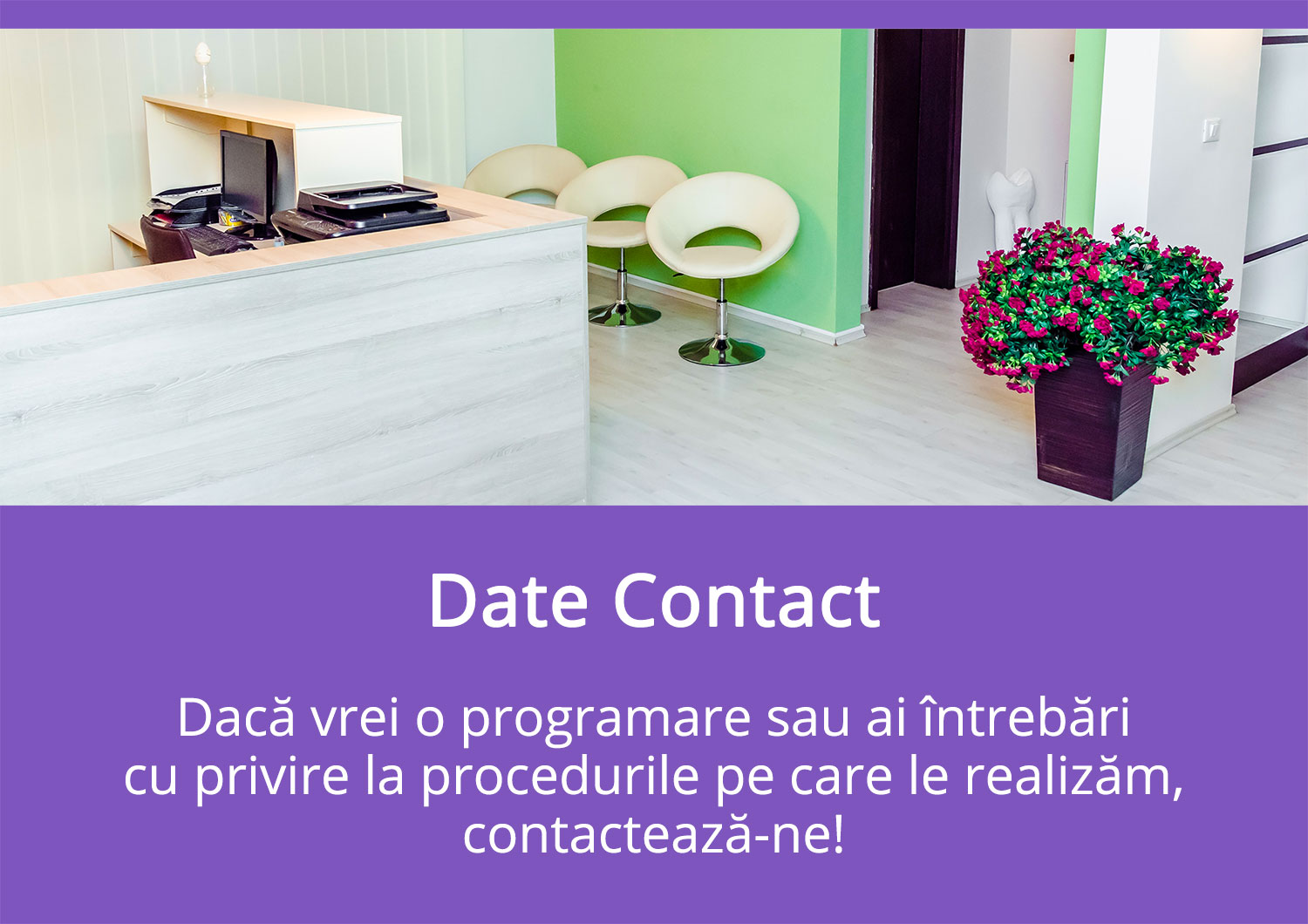 Contact - Diana Smile Clinică Stomatologică